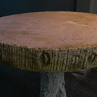 sculpted garden table